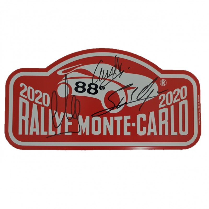 WRC Monte Carlo 2020 License Plate - Signed by the Drivers