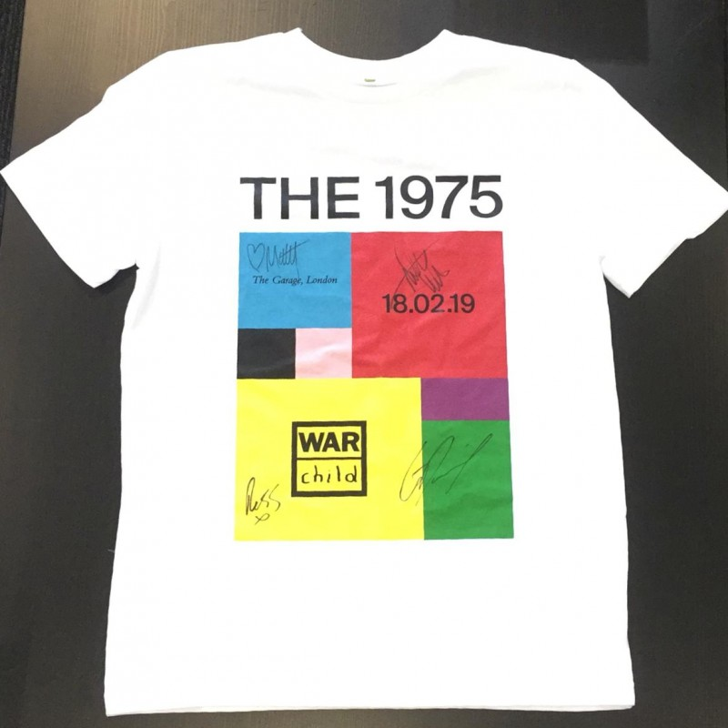 The 1975 Shirt Signed by the Band