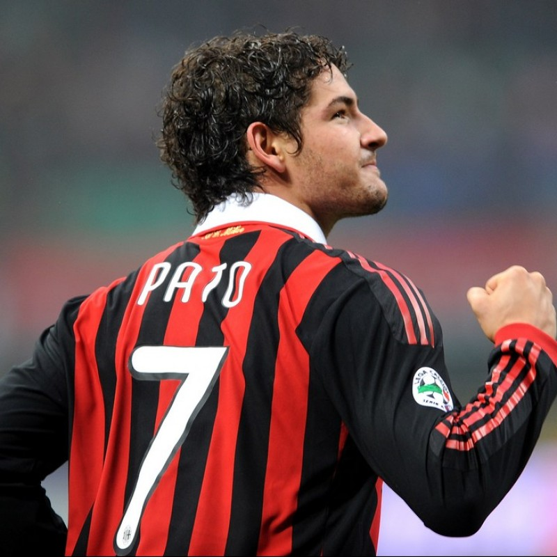 """Pato's Match-Issued/Worn Milan-Palermo Shirt, """"110 e Lode!"""" Patch"""