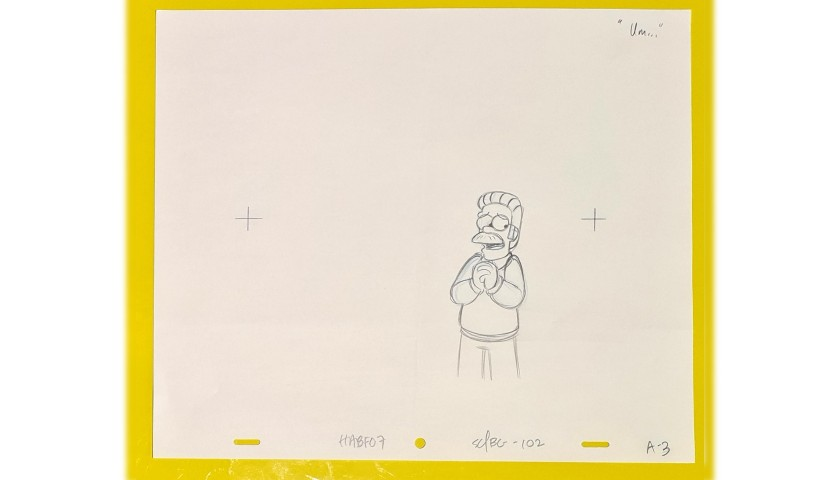 The Simpsons - Original Drawing of Ned Flanders