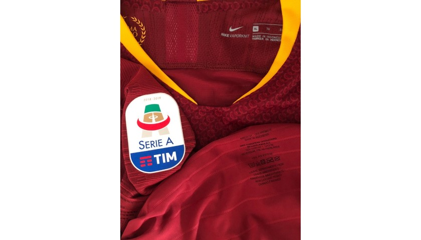 De Rossi's Roma Match-Issue Signed Shirt, 2018/19