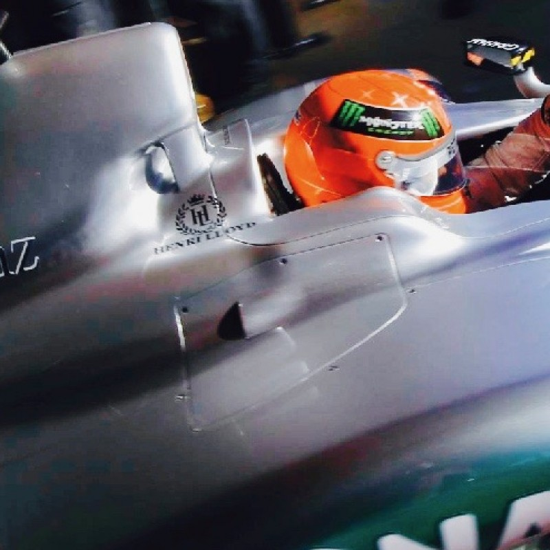 Michael Schumacher / Nico Rosberg Mercedes Radiator Inlet Piece