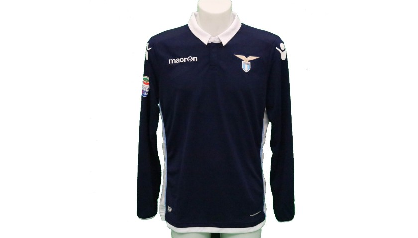 Lulic's Lazio Match-Issue Signed Shirt, 2016/17