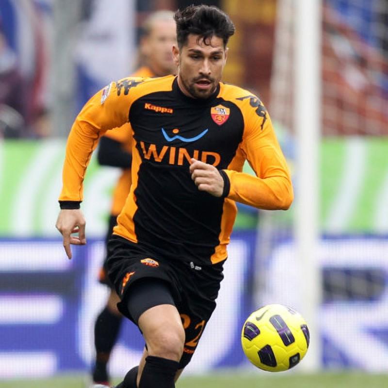 Borriello's Roma Worn Shirt, Serie A 2010/11
