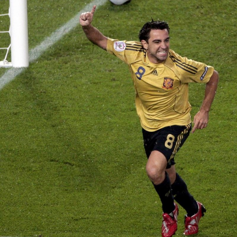 Xavi's UNWASHED Match-Worn Spain 2010 World Cup Qualifiers Shirt