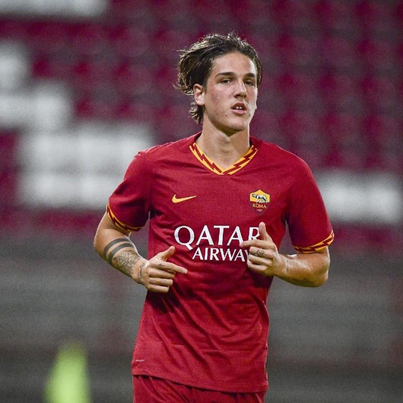 Zaniolo's Match-Issued Signed Shirt, Roma-Wolfsberger 2019