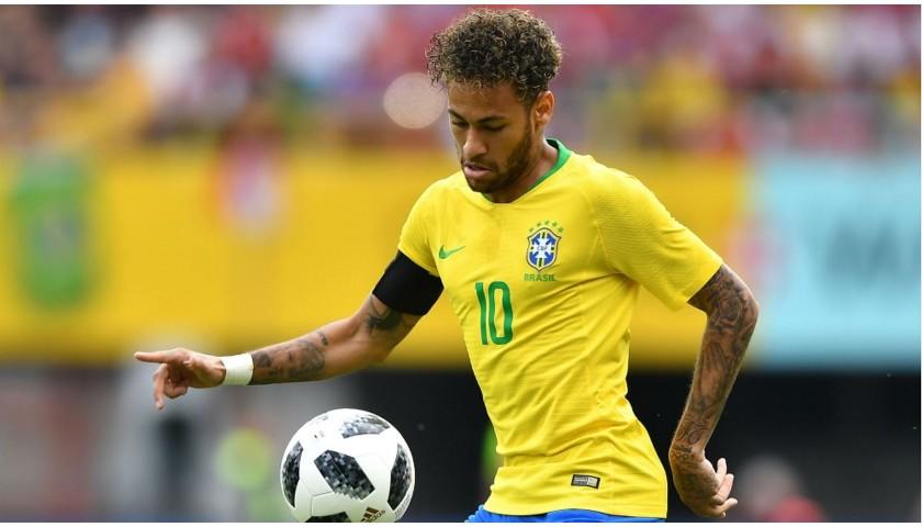 Neymar's Brazil Match Shirt, 2018