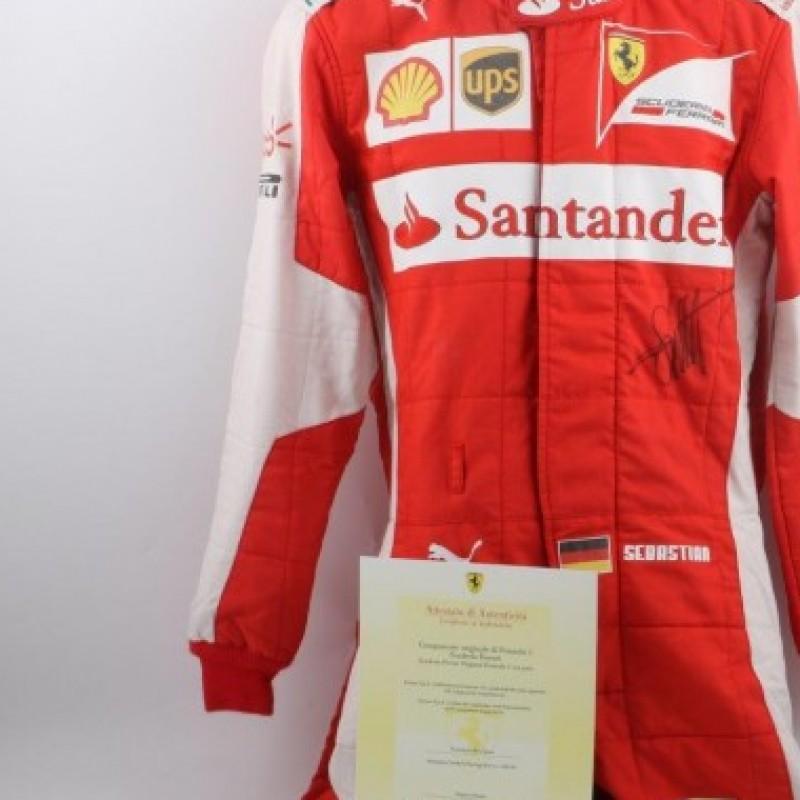 Sebastian Vettel worn Ferrari racing suit