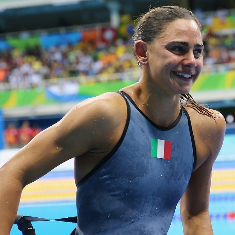 Giulia Ghiretti's Swimming Race Costume Worn for Rio 2016