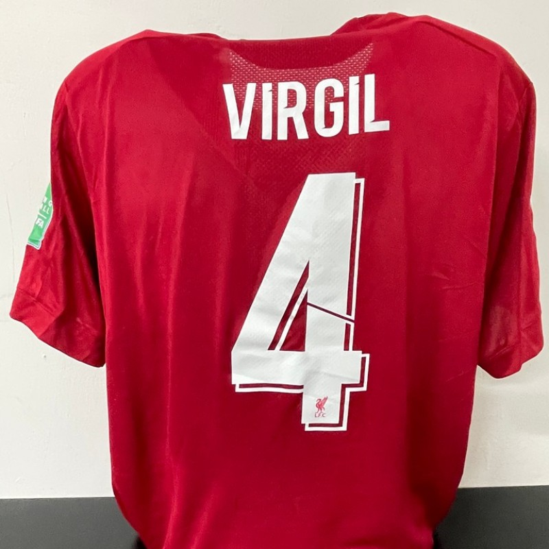 Virgil's Official Liverpool Signed Shirt, FIFA Club World Cup 2019