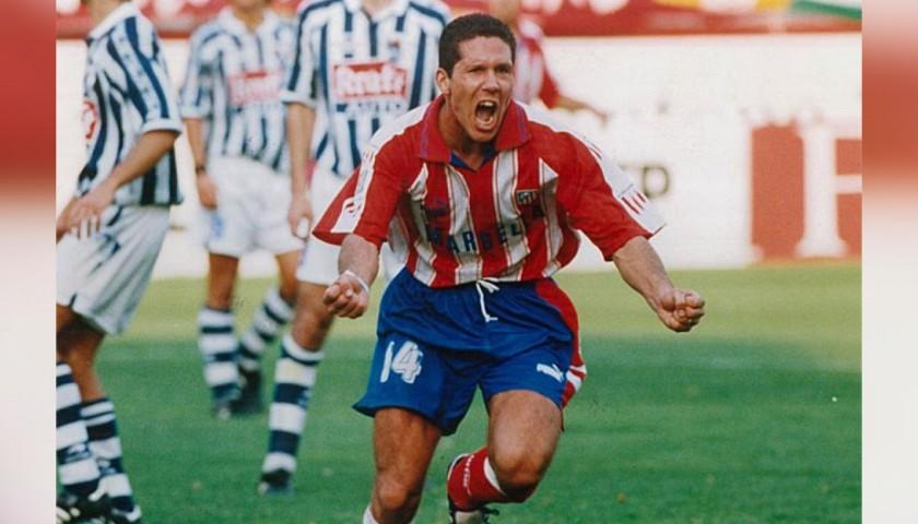 Maglia Ufficiale Simeone Atletico Madrid, 1995/96 - Autografata ...