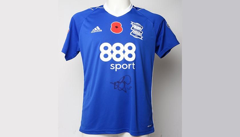 Poppy Shirt Signed by Birmingham City FC's Jonathan Grounds
