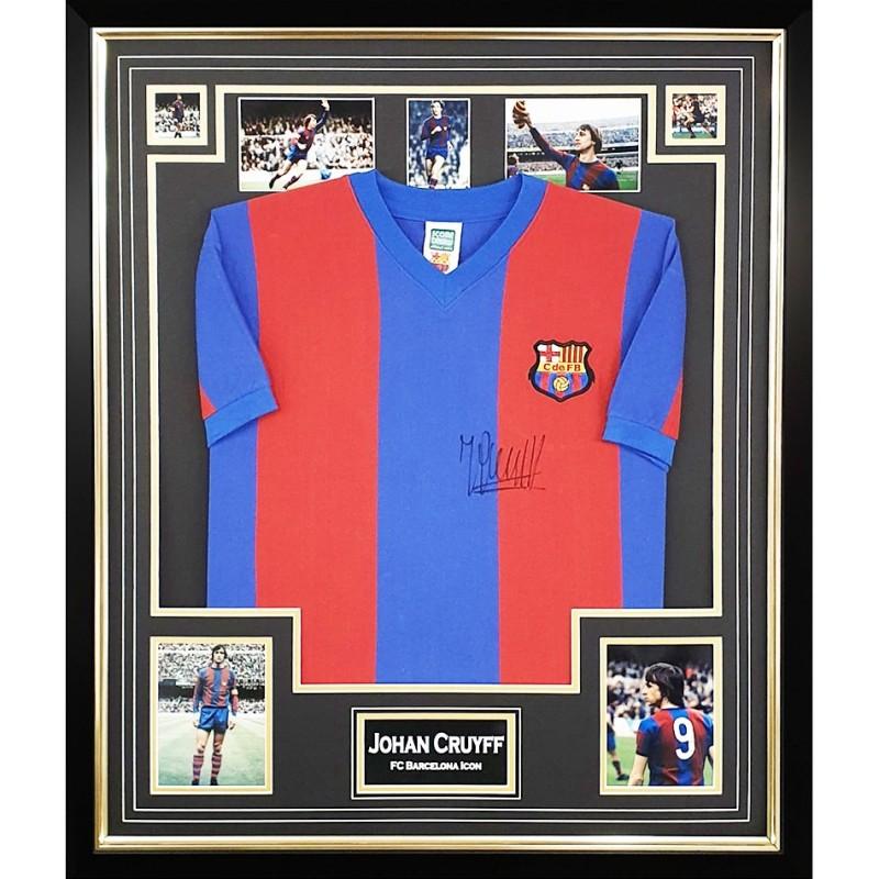 Cruyff's FC Barcelona Signed and Framed Shirt