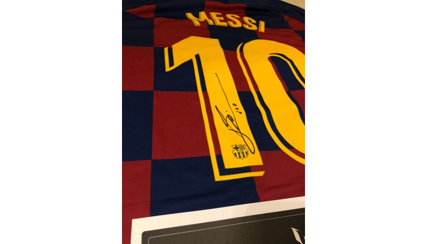 Official FC Barcelona 19/20 Shirt Signed by Leo Messi