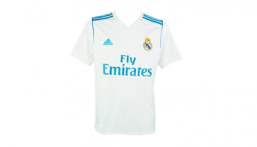 super popular 4b6f9 7f5ed Luka Modric's Official Real Madrid 2017/18 Signed Shirt - CharityStars