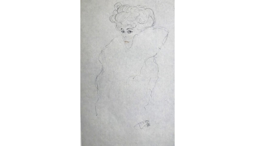 """Frauen in Pelz"" by Gustav Klimt"