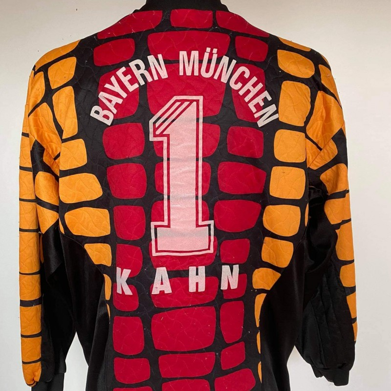 Oliver Kahn 1996 Match Worn Shirt