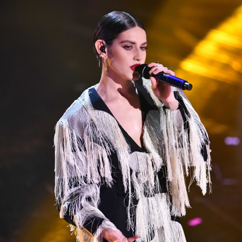 Ferragamo Dress Worn by Gaia at Sanremo 2021