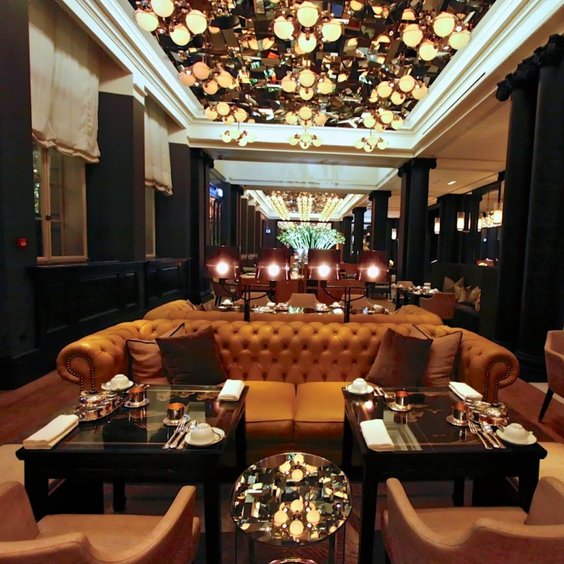Champagne Afternoon Tea for Four People in the Mirror Room at Rosewood London