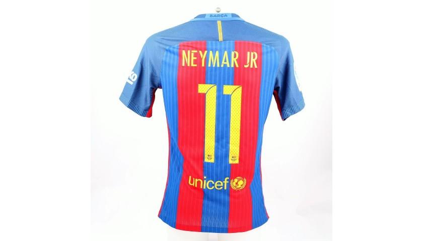 Neymar's Match-Issue/Worn Shirt, #Wembley25