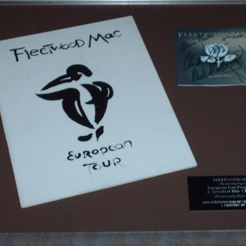 Fleetwood Mac Signed Cd Display