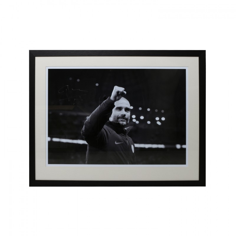 Pep Guardolia Manchester City FC Framed and Signed Photograph