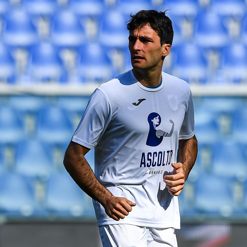 Augello's Worn T-Shirt, Sampdoria-Hellas Verona, Special #8march