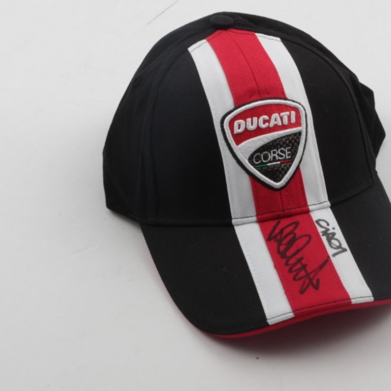 Official Ducati hat, signed by Valentino Rossi