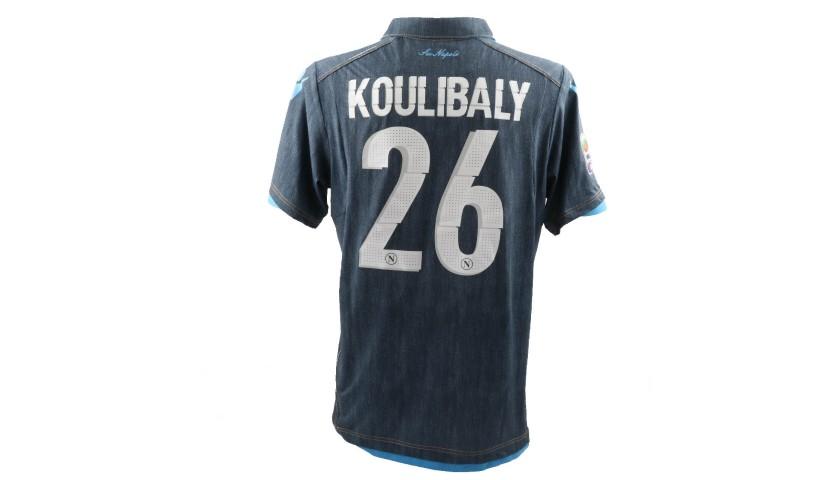 Koulibaly's Napoli Worn Shirt, Serie A 2014/15