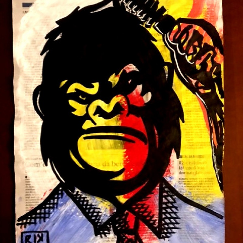 """""""Narcissist Gorilla"""" Original Board by RikPen - Riccardo Penati"""