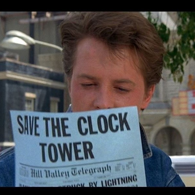 Back to the Future - Save The Clock Tower Flyer Signed by Claudia Wells