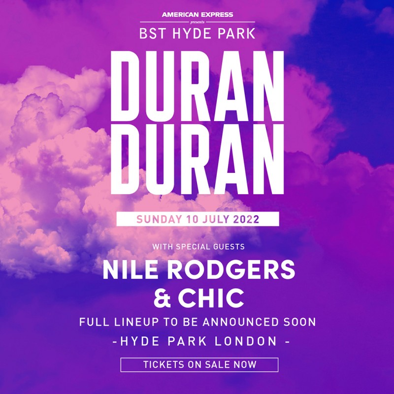 Duran Duran VIP Tickets and Backstage Tour x 2: American Express Presents BST Hyde Park