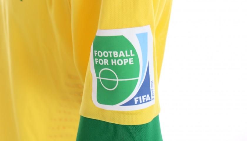 Fernando's Brazil Match Shirt, Confederations Cup 2013