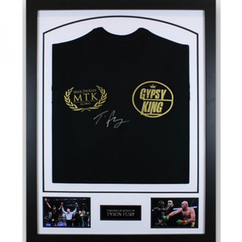 Tyson Fury Signed Boxing Ring Walk Shirt