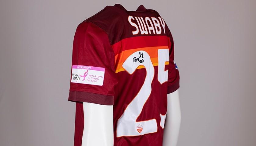 Swaby's AS Roma Signed Shirt - Special Komen Italia