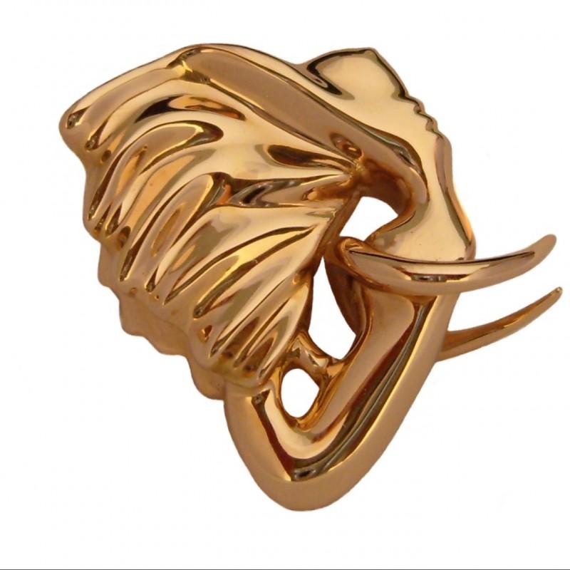 "Gold ""Elephantasme"" pendant by Anis Dargaa"
