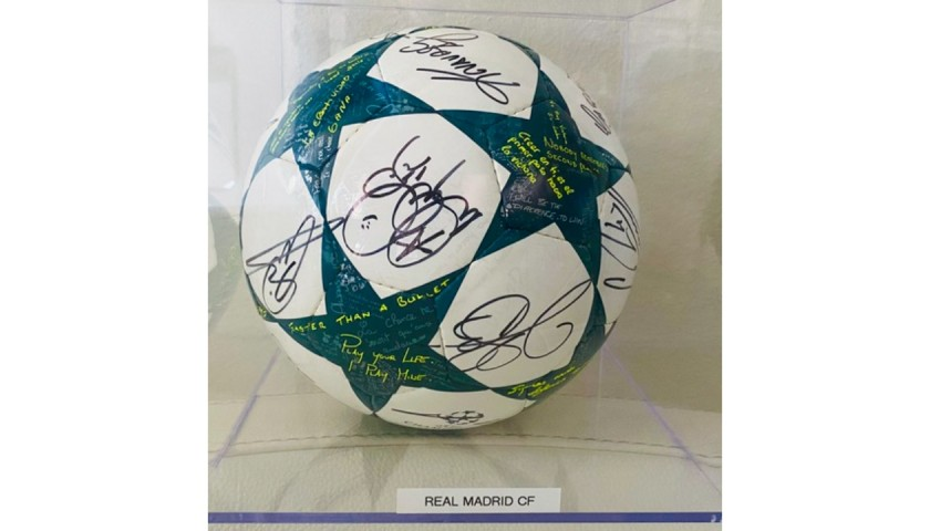 Real Madrid UCL Team Signed Ball