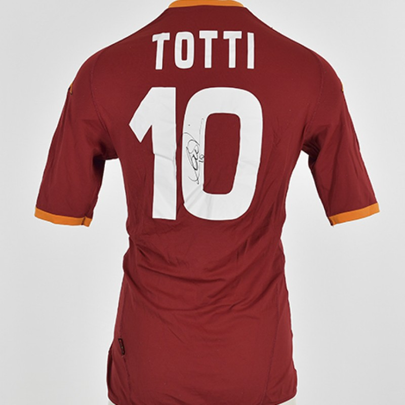 Francesco Totti's AS Roma Signed Shirt, 2007/2008