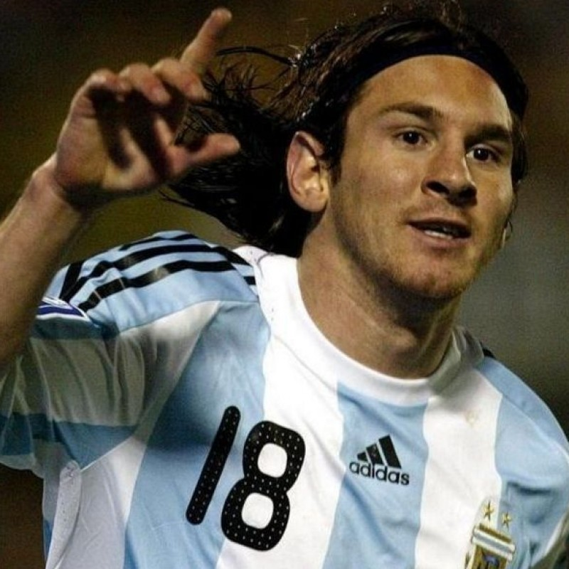 Messi's Official Argentina Signed Shirt, 2007