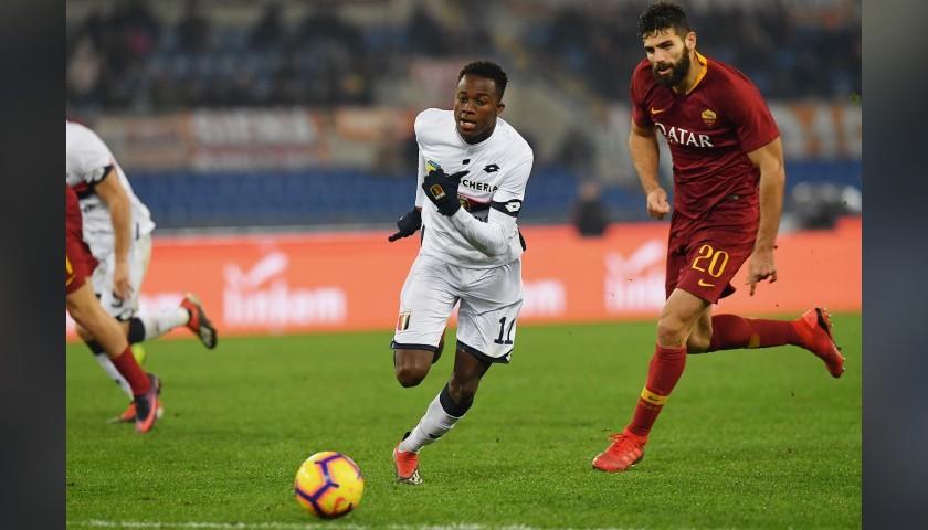 Fazio's Worn and Signed Shirt, Roma-Genoa 2018