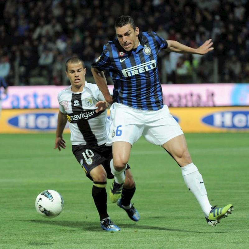 Maglia Ufficiale Lucio Inter, 2011/12 - Autografata