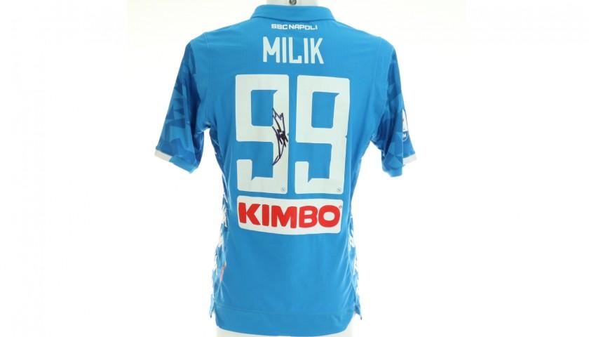 Milik's Napoli Signed Match Shirt, 2018/19