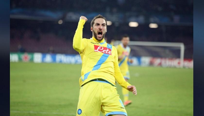 Higuain's Napoli Worn and Signed Shirt, EL 2013/14
