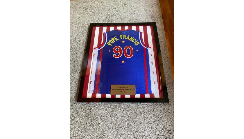 Harlem Globetrotters Jersey Personalized for Pope Francis