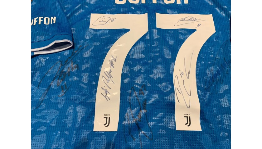 Buffon's Match Shirt, Juventus-Torino 2020 - Signed by the Players