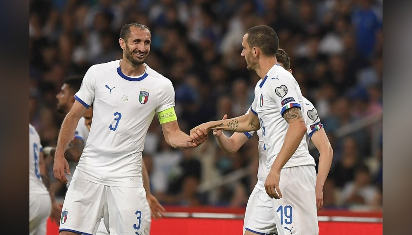 Chiellini's Match Shirt, Greece-Italy 2019