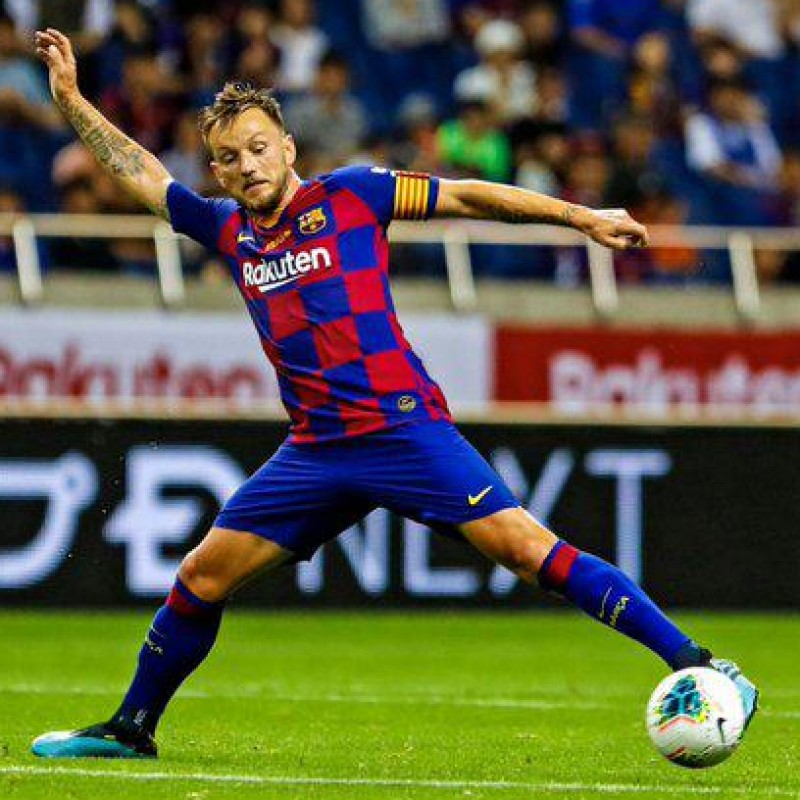 Official FC Barcelona Shirt Signed by Rakitic, 2019/20