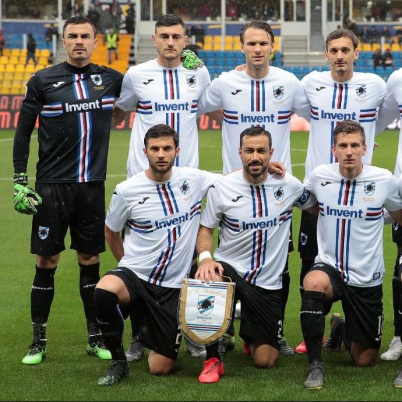 Audero's Worn Shirt, Parma-Sampdoria - #Blucrociati