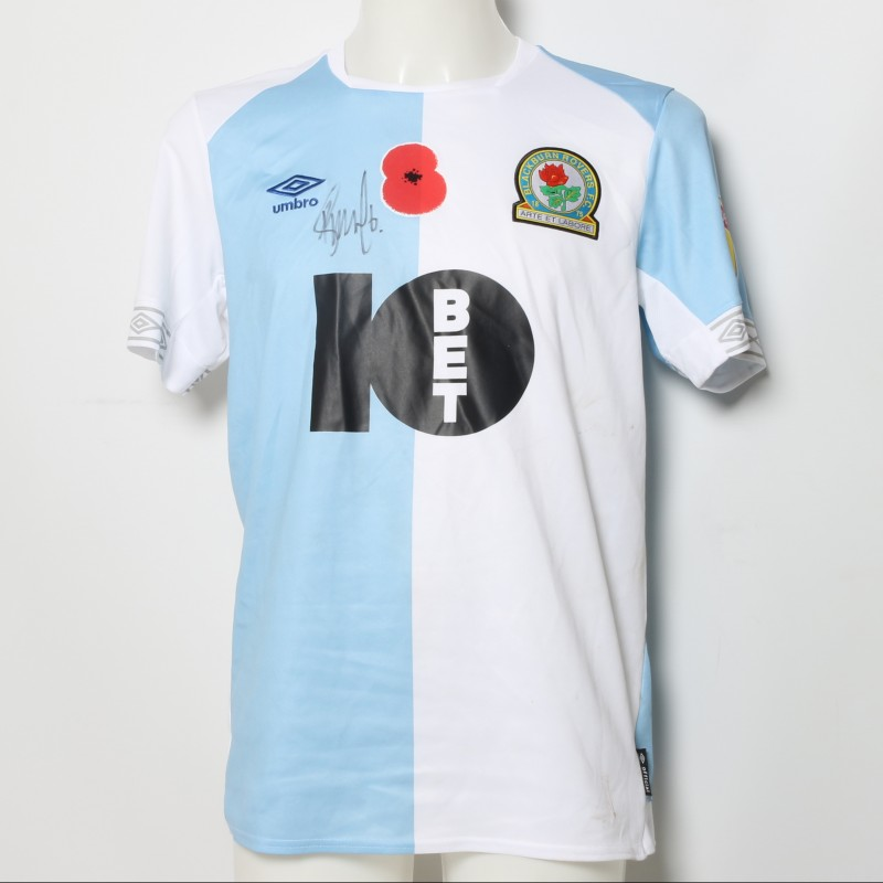 Richard Smallwood's Match-Worn Blackburn Rovers Signed Poppy Home Shirt