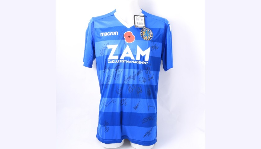 Macclesfield Town Official Poppy Shirt Signed by the Team